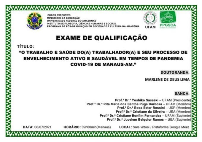 Exame de Qualificação - Marilene Lima