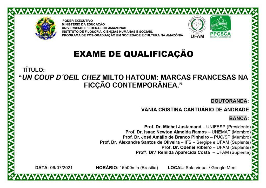 Exame de Qualificação - Vânia Andrade