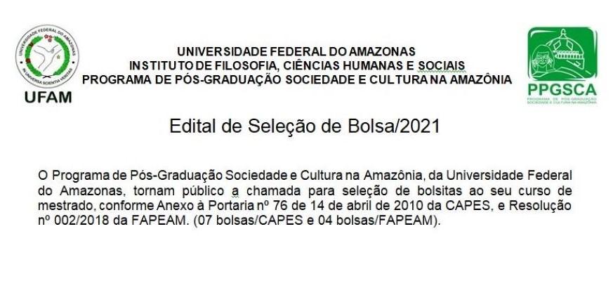 Edital de Seleção de Bolsa/2021