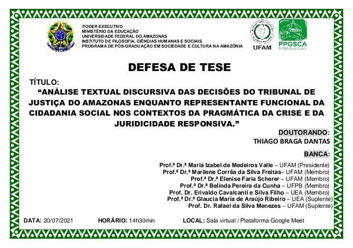 Defesa de Tese - Doutorando Thiago Braga