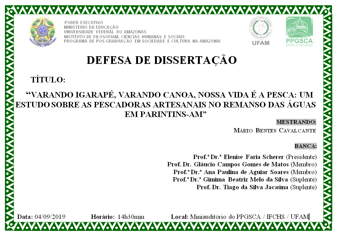 Defesa de Dissertação Mário Bentes