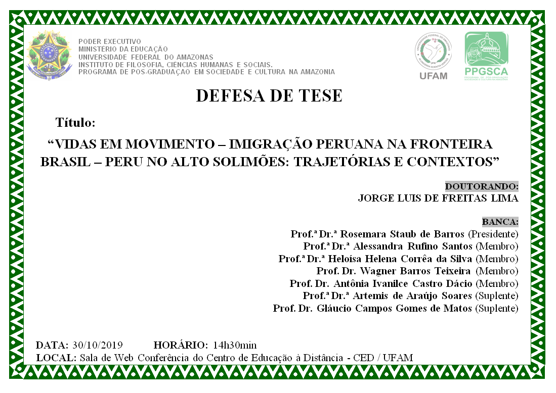 Defesa de Tese Jorge Luis de Freitas Lima