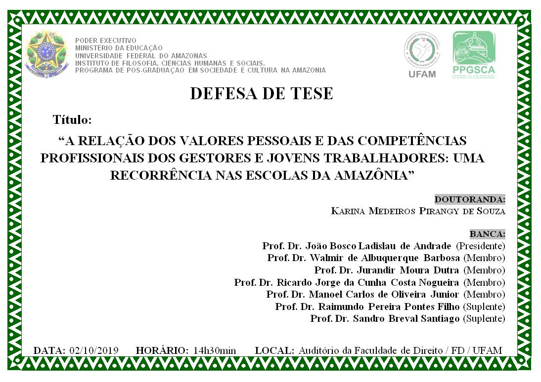 Defesa de Dissertação Maria Isabel de Araújo