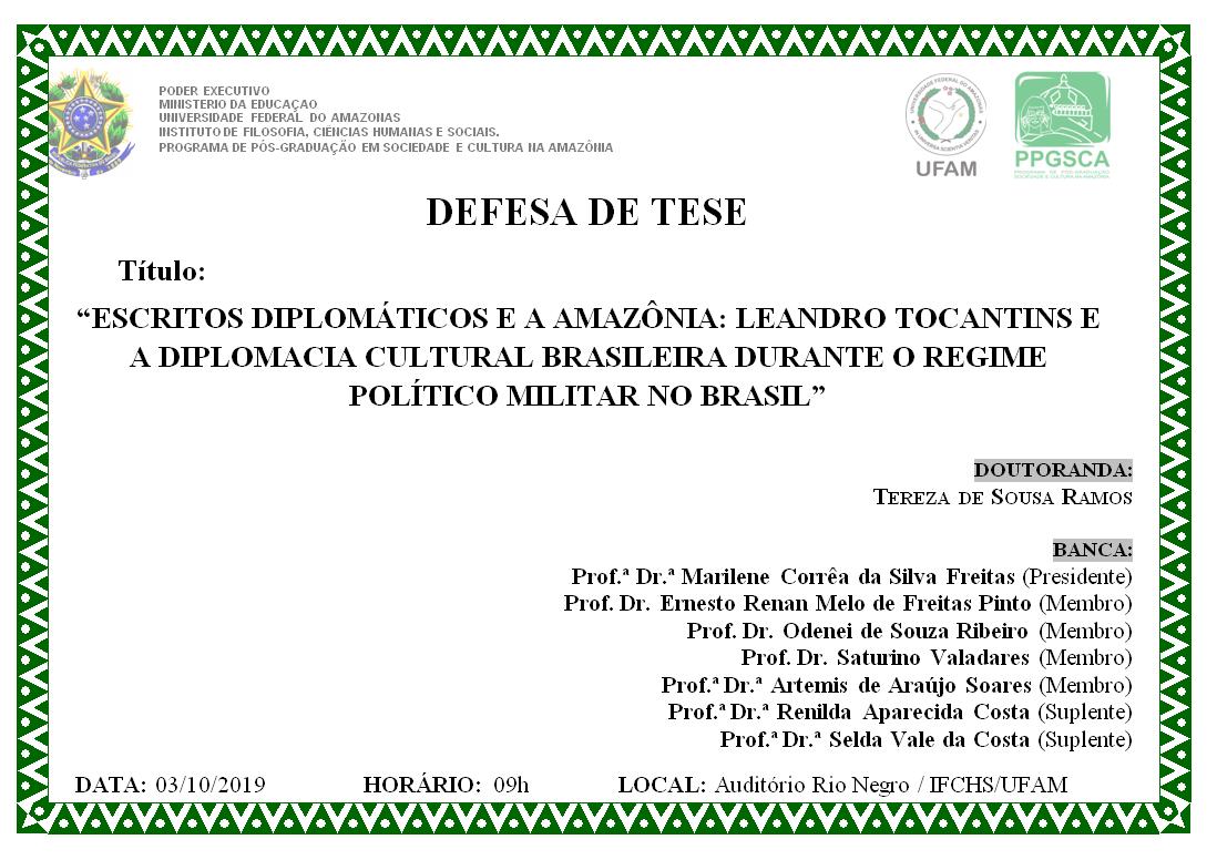 Defesa de Tese Tereza de Sousa Ramos