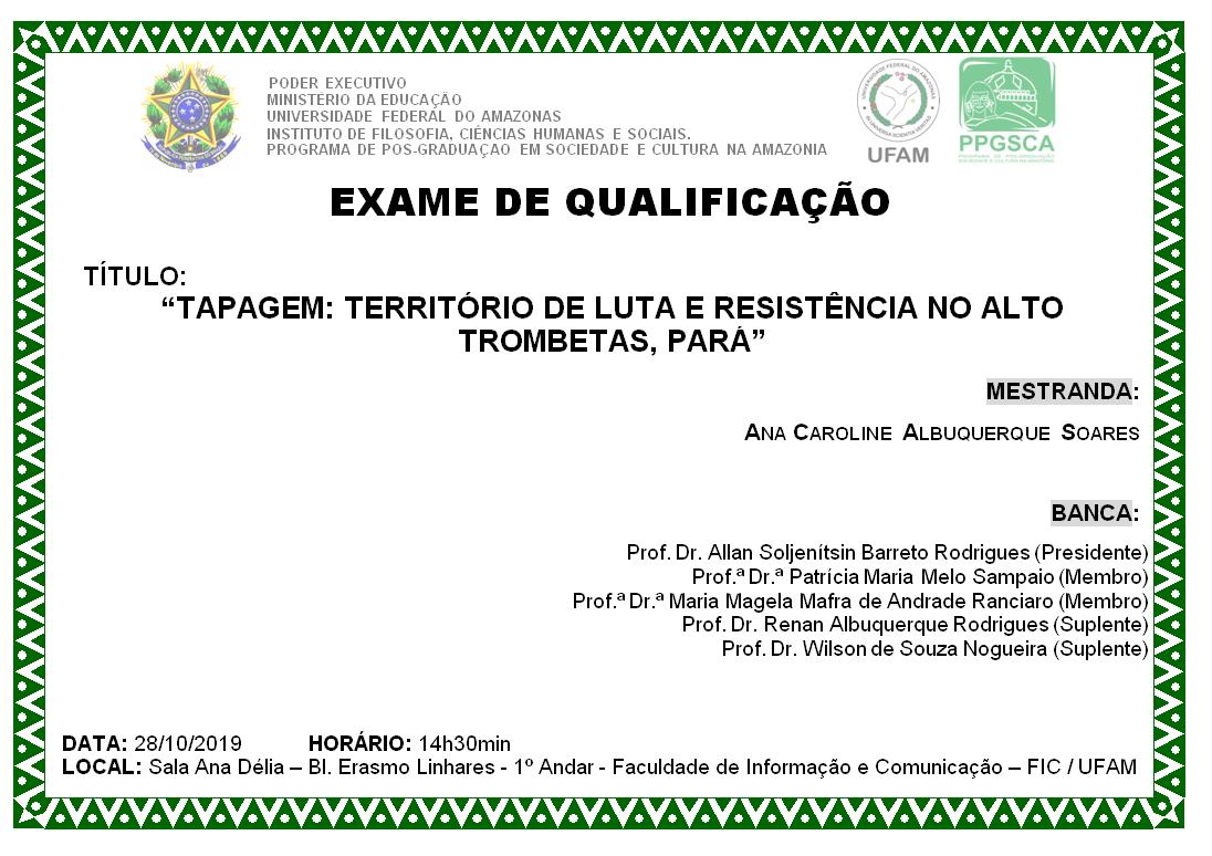 Qualificação Mestrado Ana Caroline Albuquerque Soares
