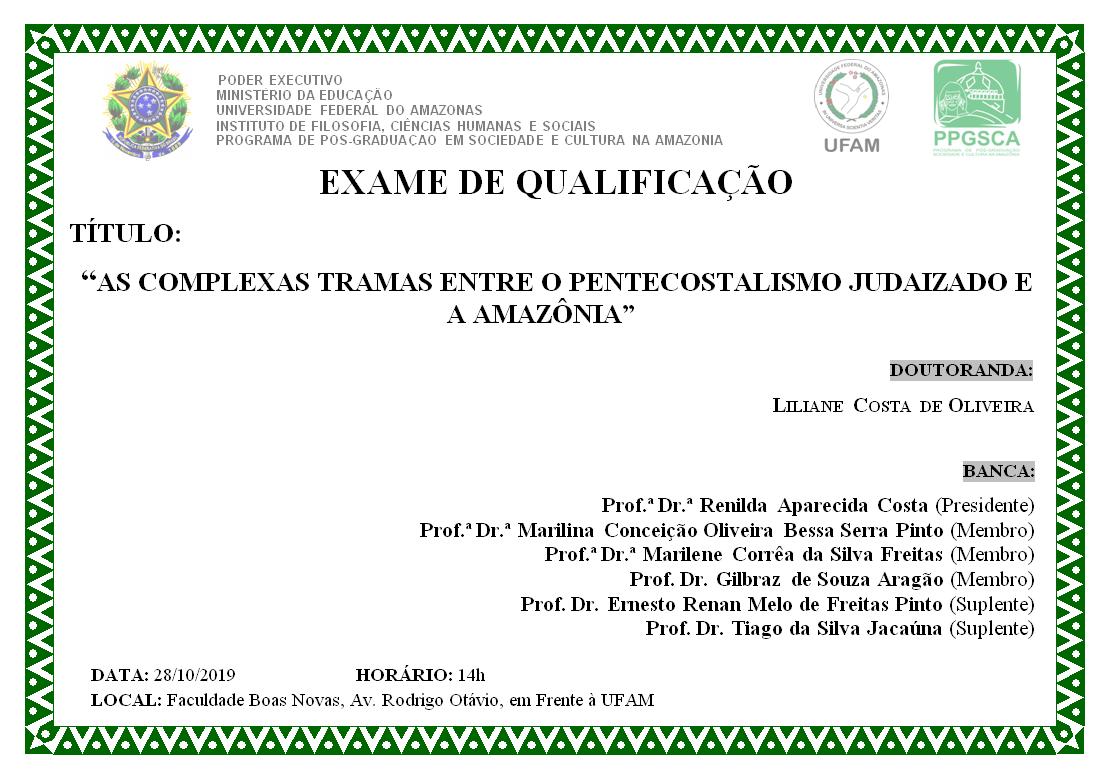 Qualificação Doutorado Liliane Costa de Oliveira