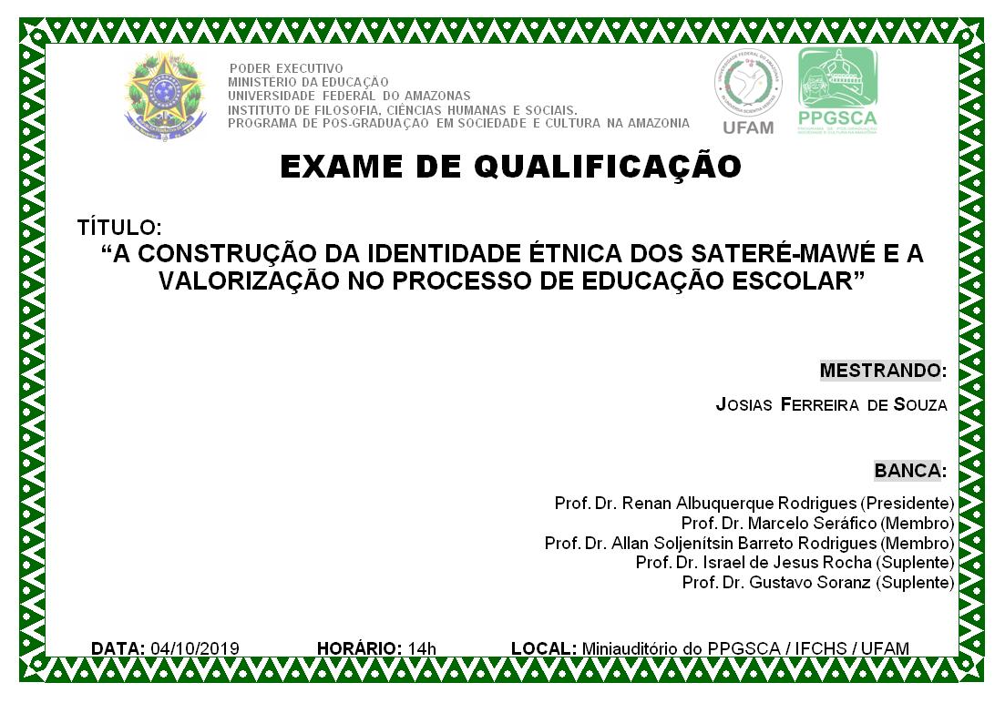 Qualificação de Mestrado Josias Ferreira de Souza